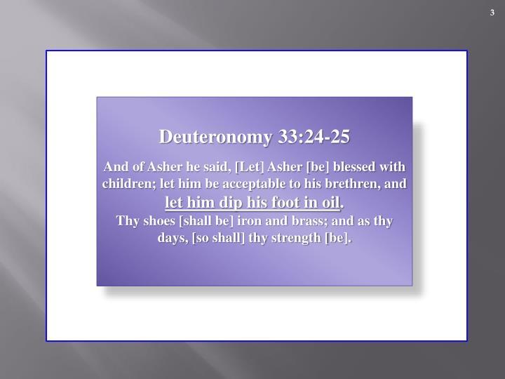 Deuteronomy 33:24-25