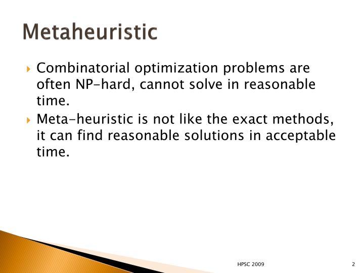 Metaheuristic