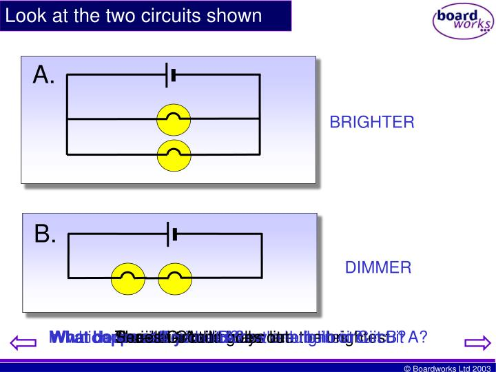 Look at the two circuits shown