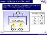 measuring voltage in a series circuit