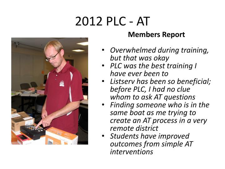 2012 PLC - AT