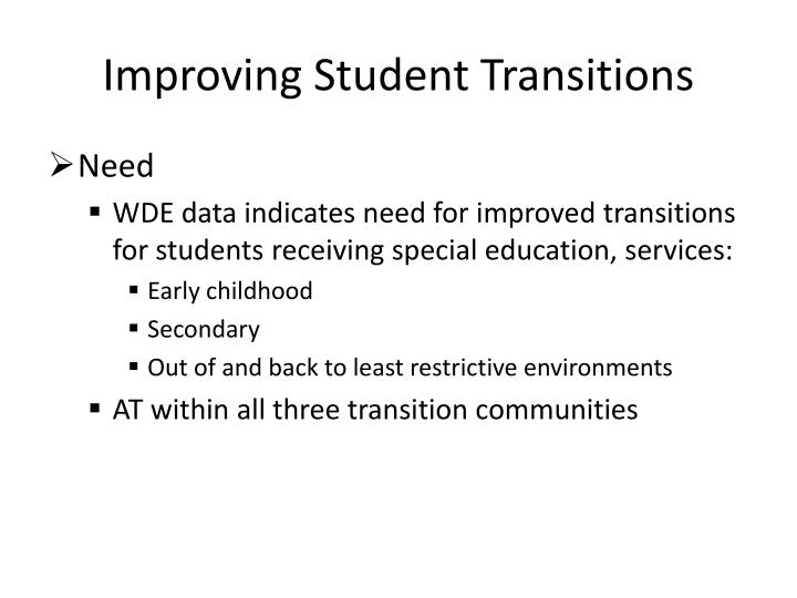 Improving Student Transitions