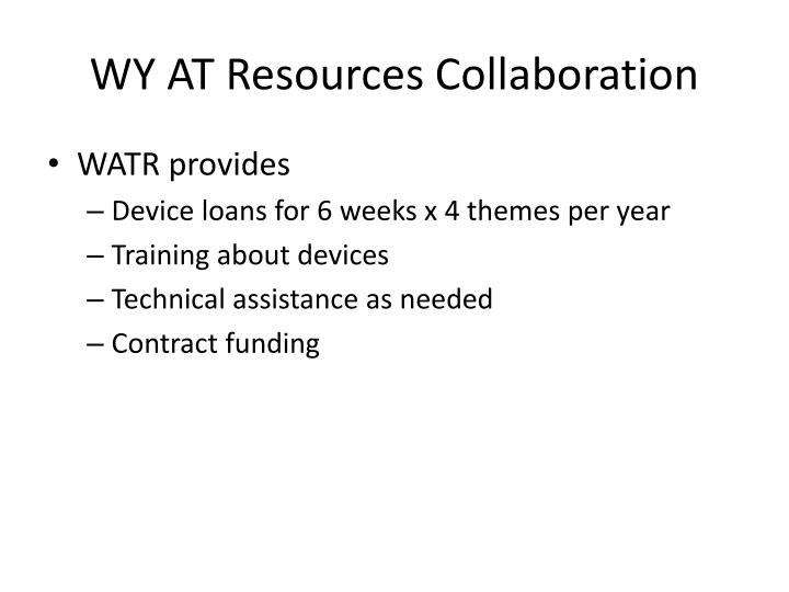 WY AT Resources Collaboration