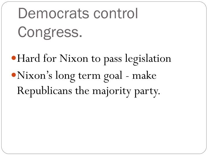 Democrats control congress