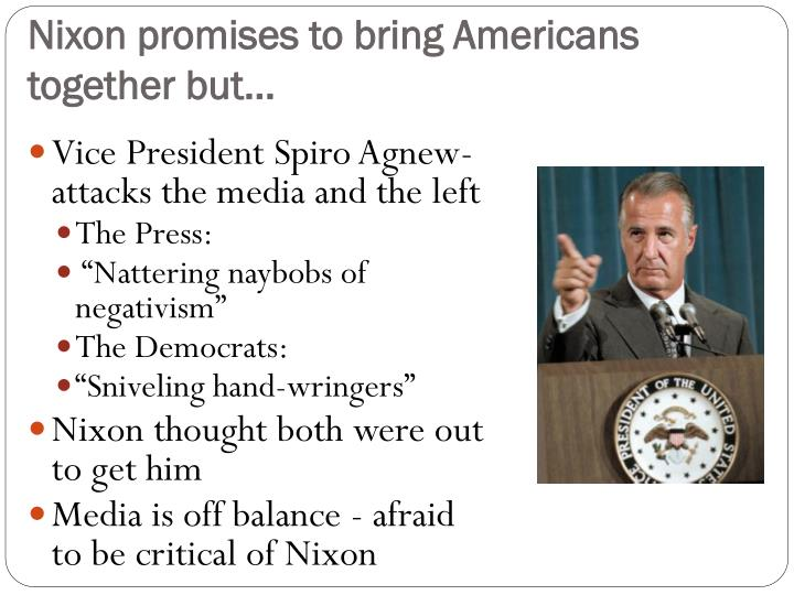 Nixon promises to bring americans together but