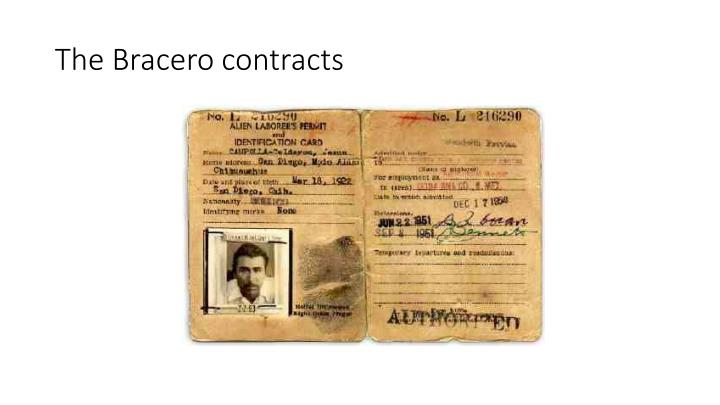 The bracero contracts