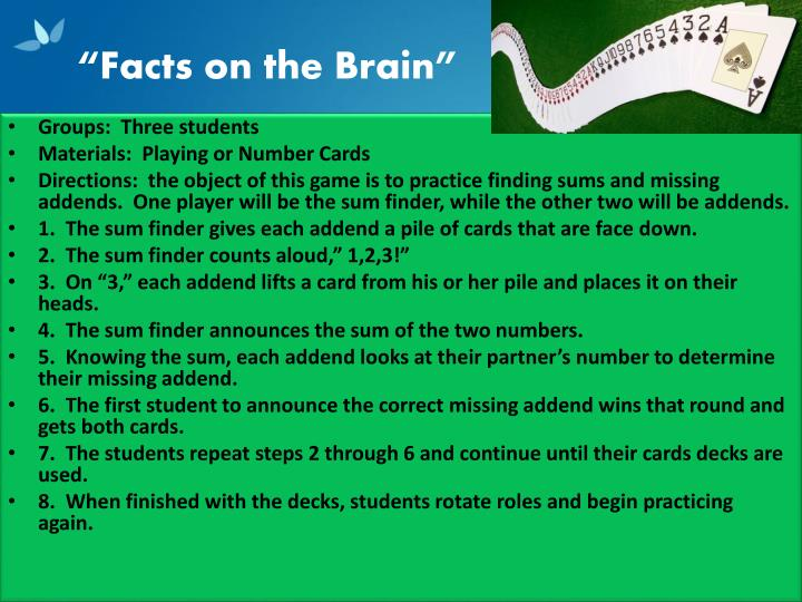 """""""Facts on the Brain"""""""