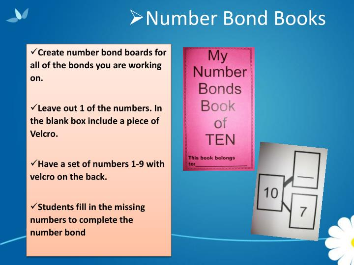Number Bond Books