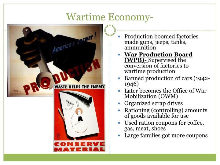 Wartime Economy-