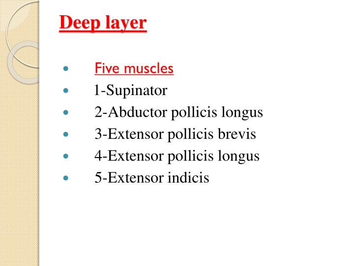 Deep layer