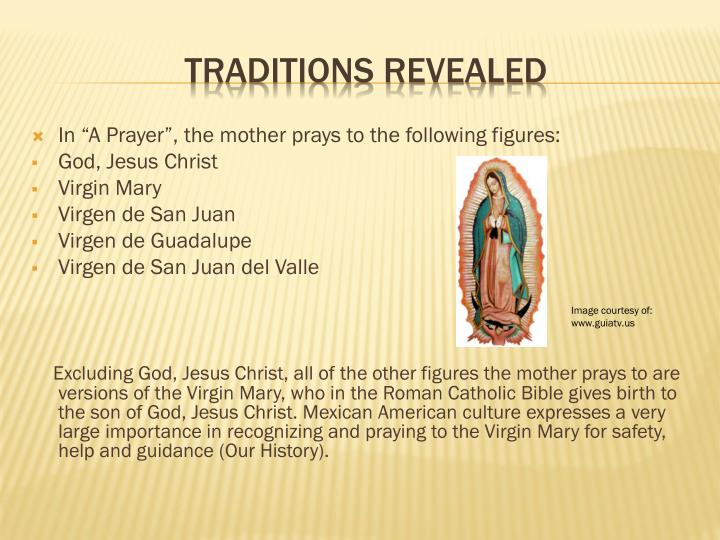 "In ""A Prayer"", the mother prays to the following figures:"