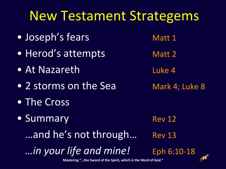 New Testament Strategems