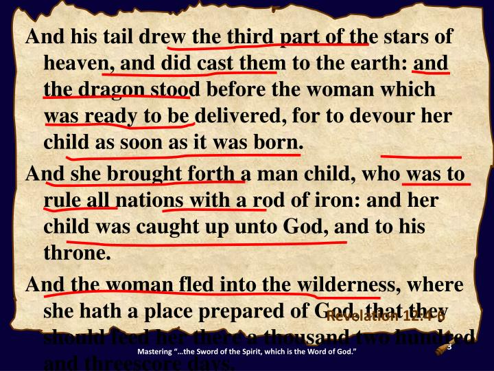 And his tail drew the third part of the stars of heaven, and did cast them to the earth: and the dra...