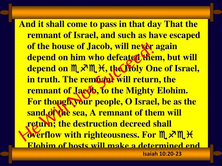 Isaiah 10:20-23