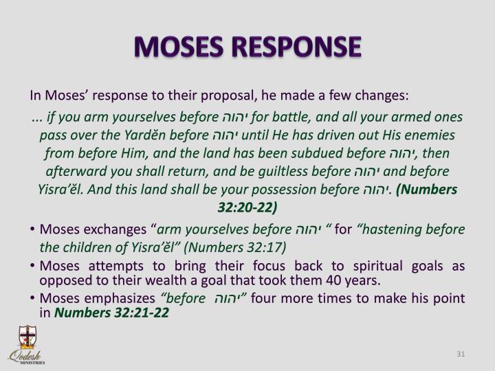 MOSES RESPONSE