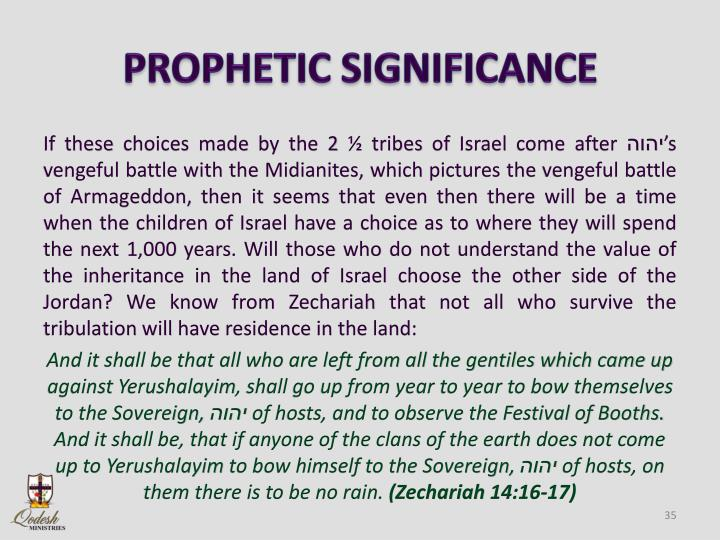 PROPHETIC SIGNIFICANCE