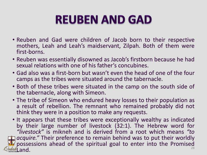 REUBEN AND GAD