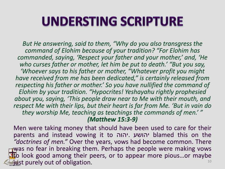 UNDERSTING SCRIPTURE