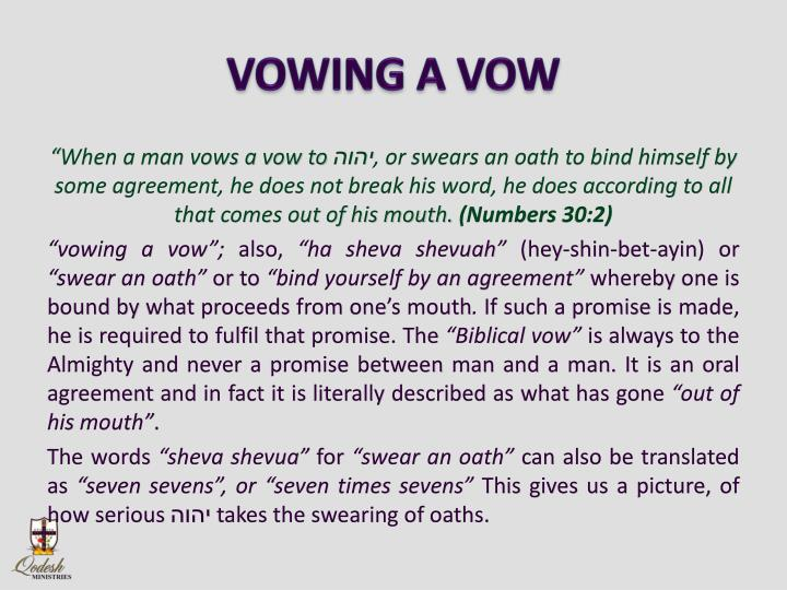 VOWING A VOW