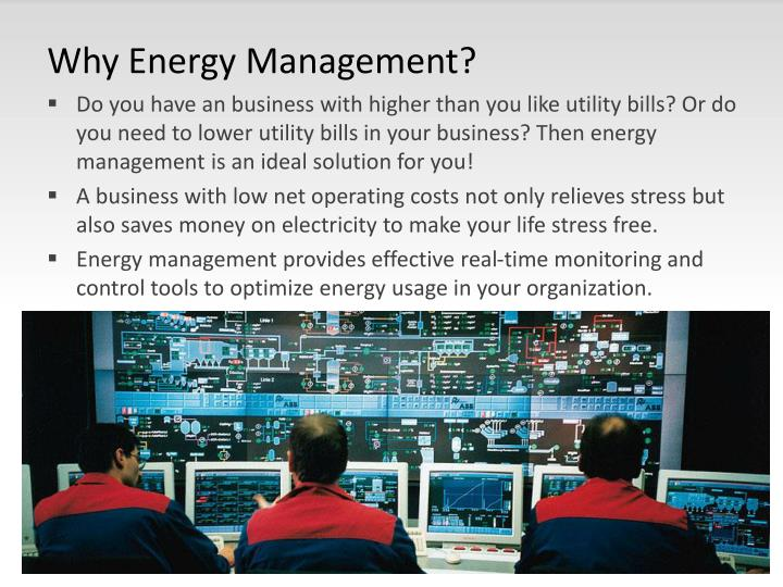 Why Energy Management