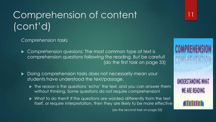 Comprehension