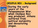 oedipus rex background