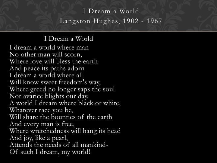 I Dream a World