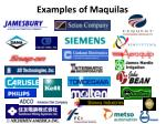 examples of maquilas