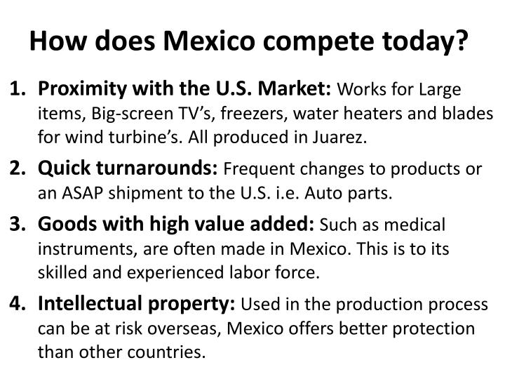 How does Mexico compete today?