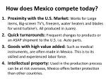 how does mexico compete today