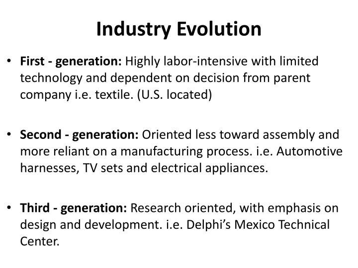 Industry Evolution