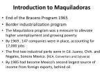 introduction to maquiladoras
