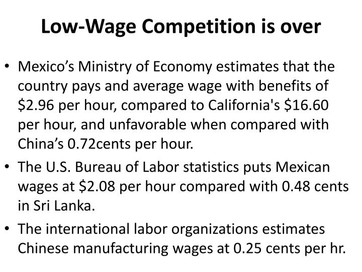 Low-Wage Competition is over