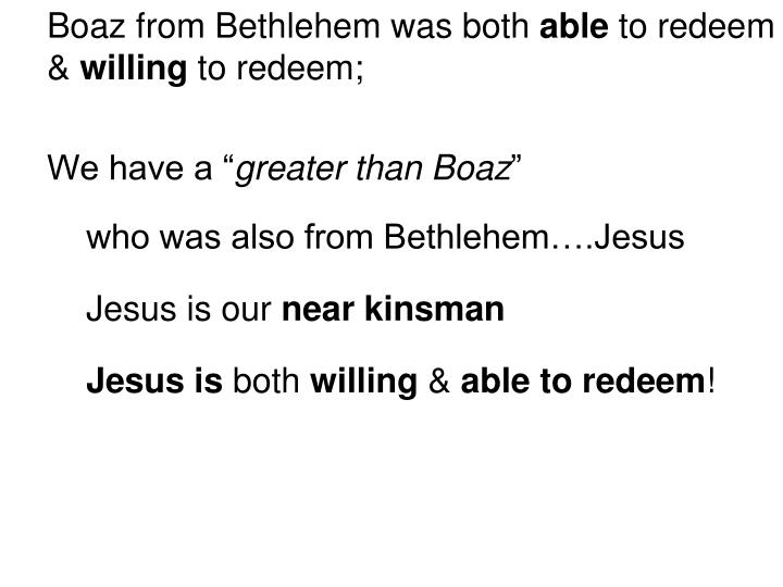 Boaz from Bethlehem