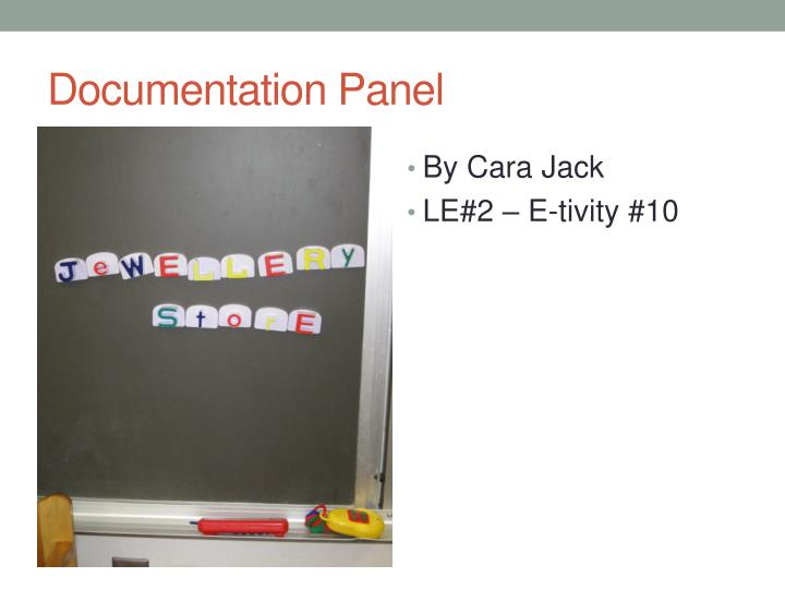 Documentation Panel