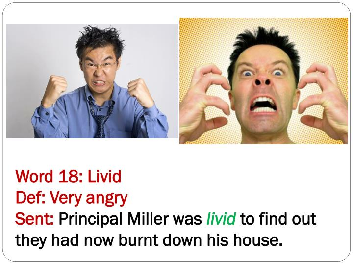 Word 18: Livid