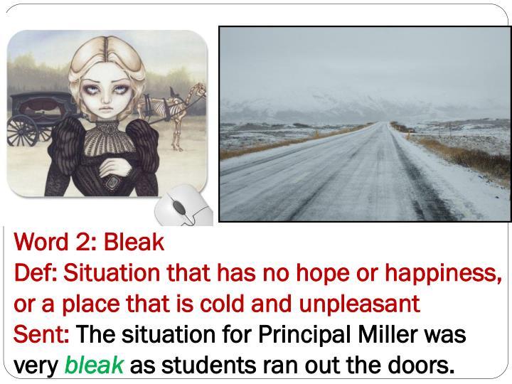 Word 2: Bleak