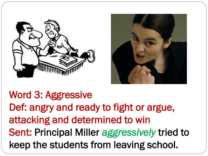 Word 3: Aggressive