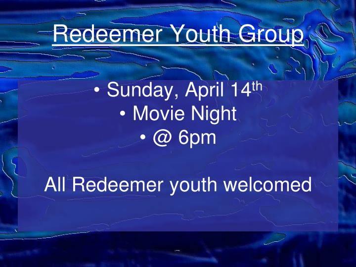 Redeemer Youth Group