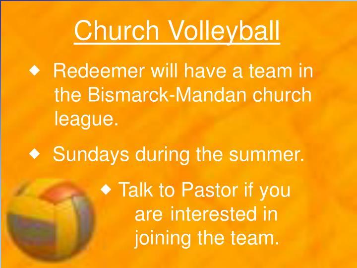 Church Volleyball
