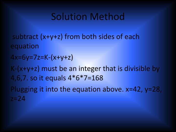 Solution Method