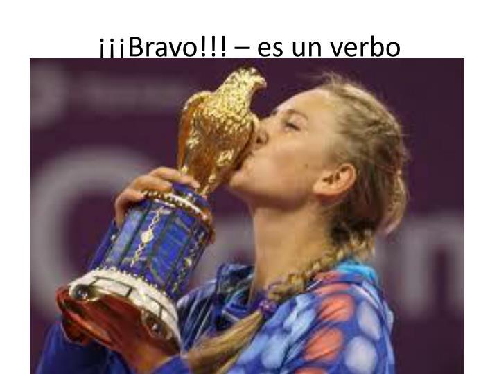 ¡¡¡Bravo!!! –