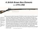 4 british brown bess elements c 1775 1783