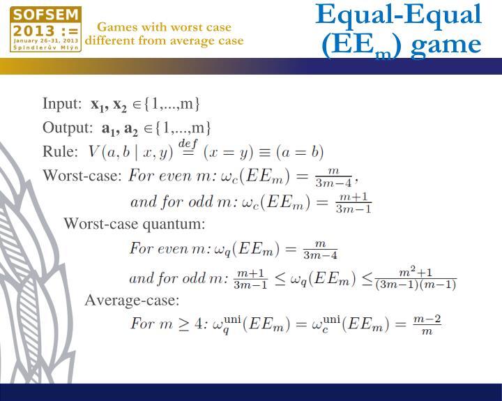 Equal-Equal