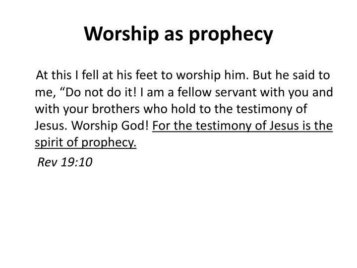 Worship as