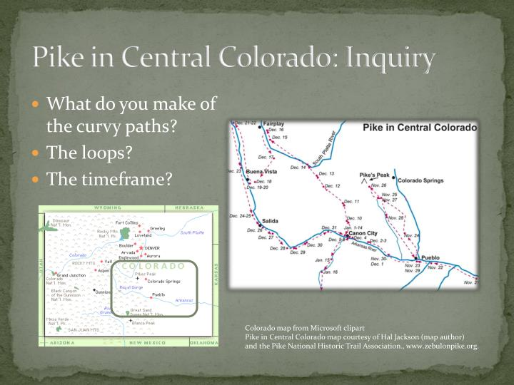 Pike in Central Colorado: Inquiry