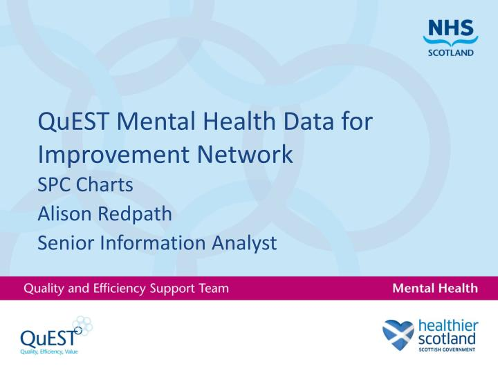 Quest mental health data for improvement network