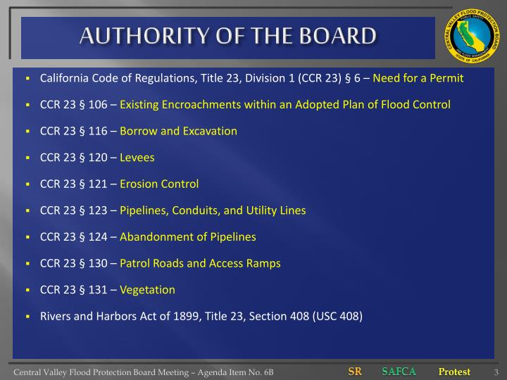 Authority of the board