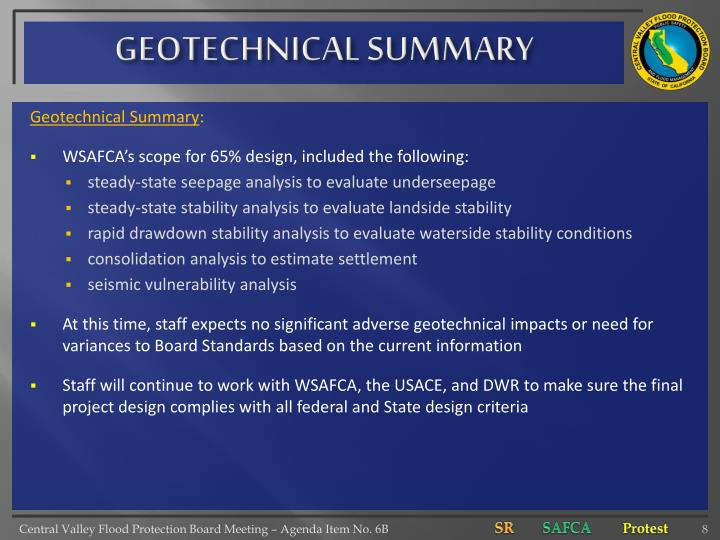 GEOTECHNICAL SUMMARY