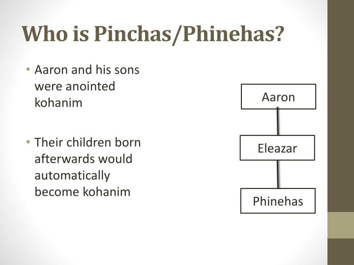 Who is Pinchas/Phinehas